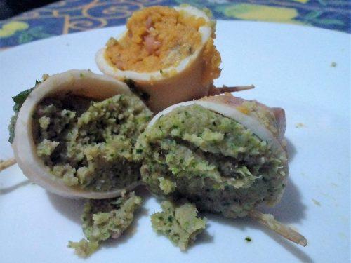 Calamari ripieni vegetariani