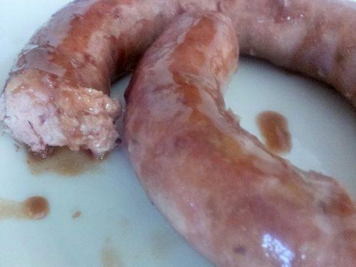 Salsiccia di maiale al NERO D'AVOLA