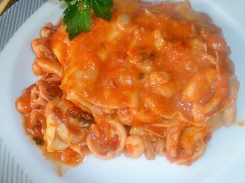 Lasagne al forno ai frutti di mare