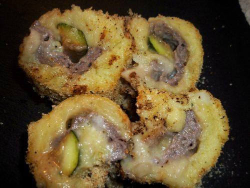 Ricetta – Rotolo di patate con carne zucchine e stracchino