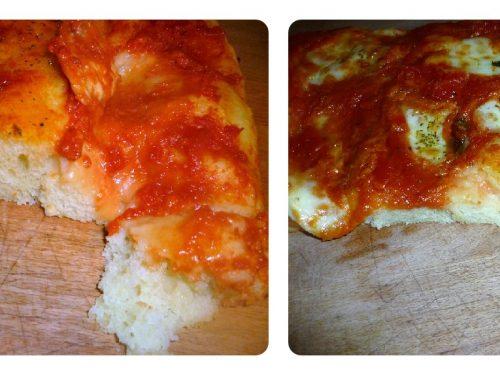 Pizza muddiata o morbida