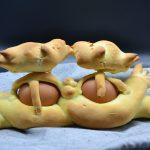 Ricetta - Colombe pasquali in pasta di pane