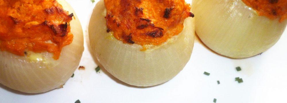 Cipolle ripiene di zucca