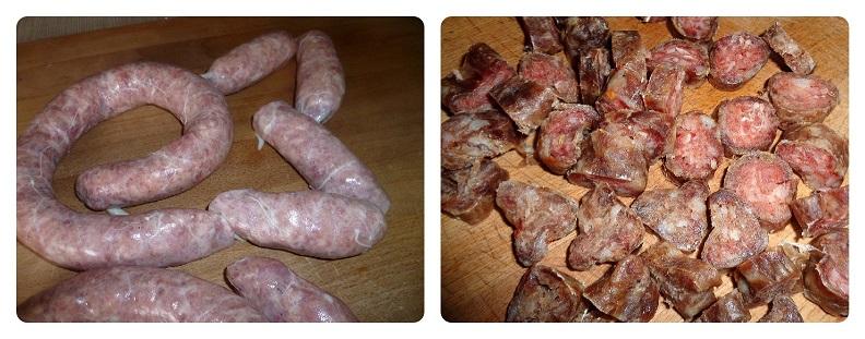 Salsiccia di maiale fatta in casa