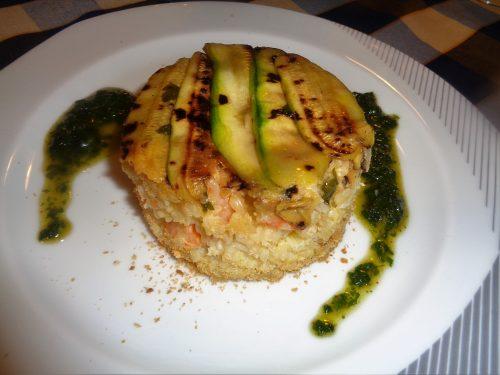 Ricetta – Timballo di riso con zucchine e gamberi