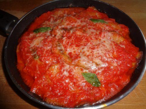 Ricetta-Parmigiana con prosciutto e mozzarella di bufala