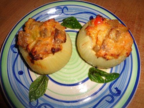 Ricetta – Cipolle ripiene con Zucchina e Melanzana