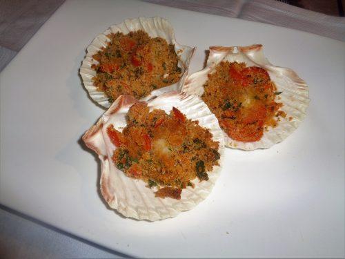 Ricetta – Capesante gratinate