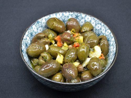 Ricetta – Olive verdi condite