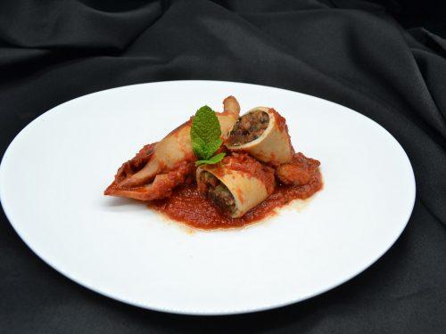 Ricetta – Totani ripieni in salsa di pomodoro