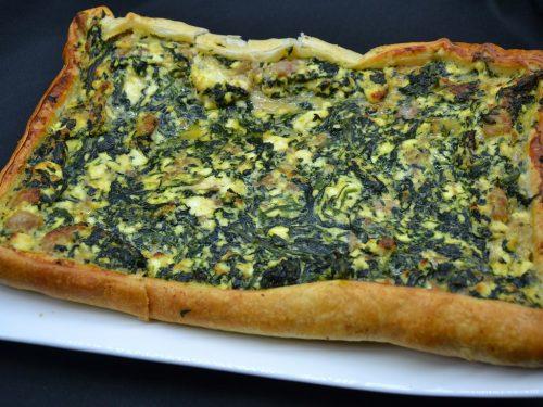 Ricetta – Torta salata con spinaci ricotta e salsiccia