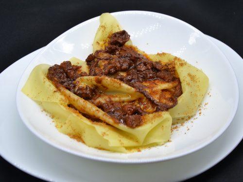 Ricetta – Lasagna scomposta al sugo di polpo